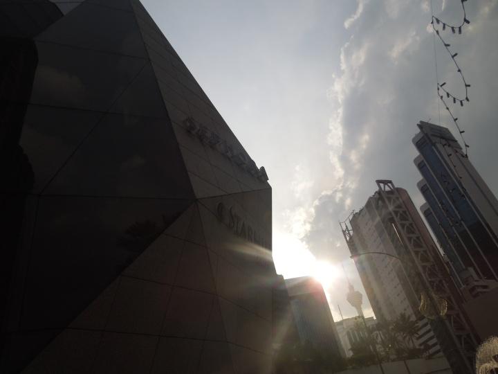 My final sunset in Jalan Bukit Bintang